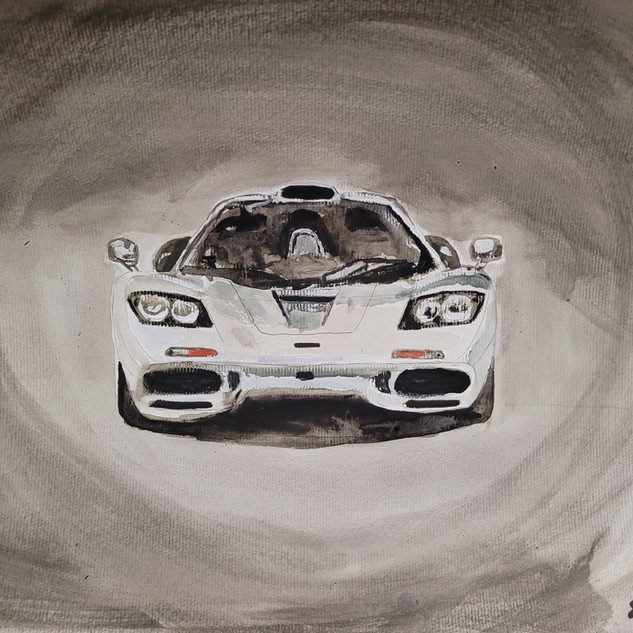 Mclaren F1, watercolour & pencil, A3 size, original £250, print £75