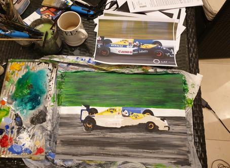 Working on the Williams FW14B, Nigel Mansell Championship winner '92