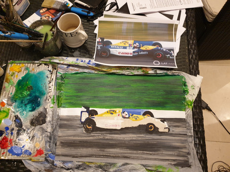 Working on the Williams FW14B, Nigel Mansell Championship winner '92