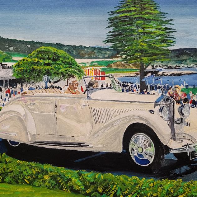 Rolls Royce 25/30HP, Gurney Nutting, All Weather Tourer, 1937, original 75x50cm sold, A3 print £75