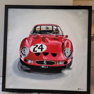 Ferrari 250GTO framed black ash total size 90x90x4.5cm £1,500