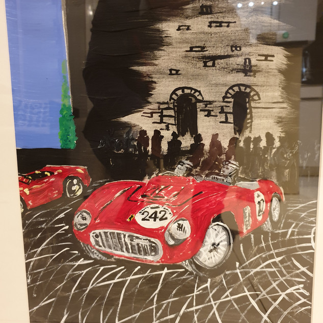 Ferrari 500 Testa Rossa 1955 at Mille Miglia 2000, A3 size, original sold, print £75