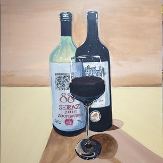 Empty & Full wine, large canvas 1x0.5m, original £550