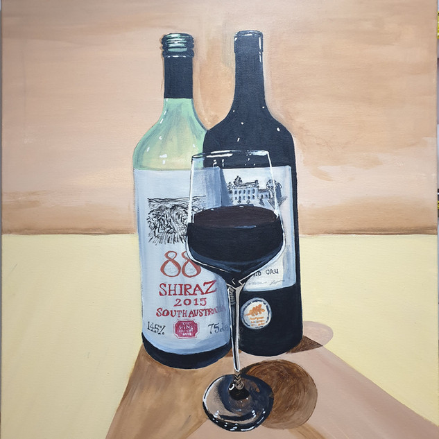 Empty & Full wine, large canvas 1x0.5m, original £550