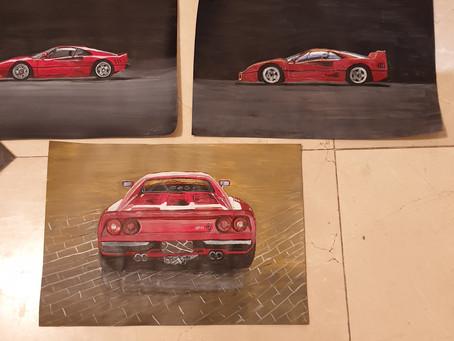 Painted a few celebration Ferrari cars
