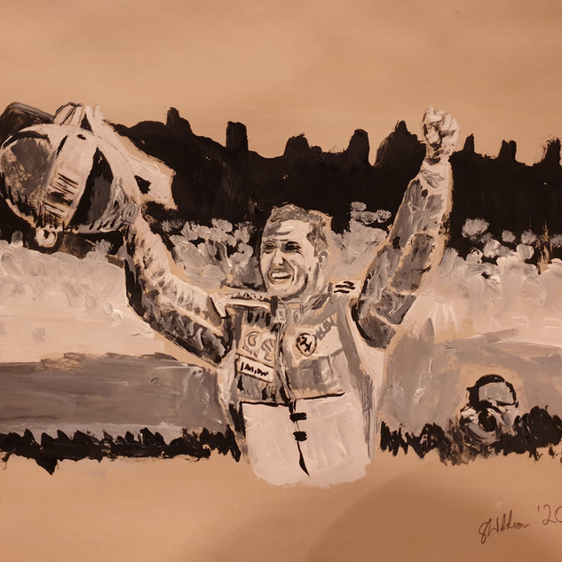 Michael Schumacher, F1 win 2005, A3, original £550, print £75
