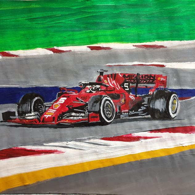 Ferrari F1 2019 No 5 car, A3 size, original £550, print £75