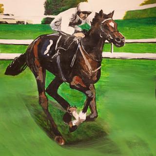 Statuario racehorse, acrylic, A3 size
