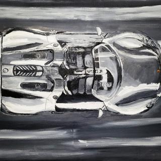 Porsche 918 Spyder, 2014, oil on canvas, 90x70x2cm, original £1,000, print £75