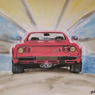 Ferrari 288GTO, A3 watercolour, original £250, print £75