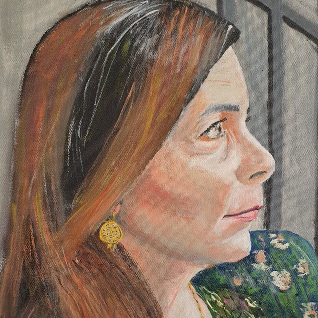 Viviana, oil on canvas, 60x40x4cm, original £550, print £75