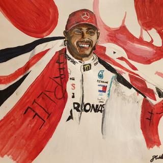 Lewis Hamilton, 2019 F1 Champ, A3, original £550, print £75