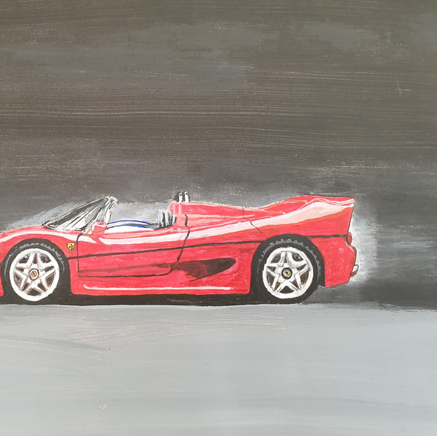 Ferrari F50 1996, A3 size, original £550, print £75