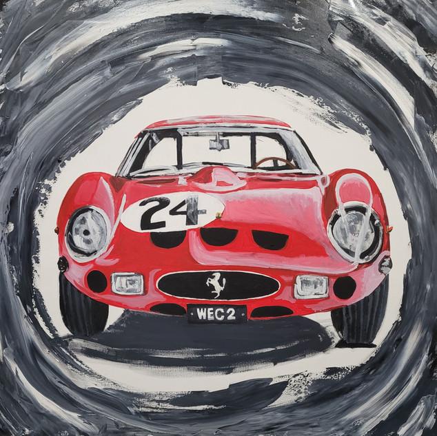 Ferrari 250GTO 1962 Dream Car, oil on canvas, 90x90x2cm, original £1,000, print £75
