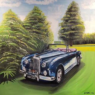 Bentley, S1 Continental Drophead, 1958, oil on canvas 90x90x4cm, original sold