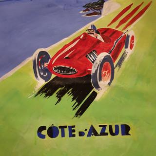 Art Deco style poster Cote d'Azur, A3 size, original £SOLD, print £75