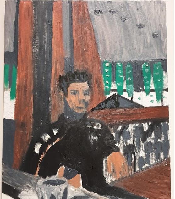 Contemplation, oil on cavas, 60x40cm, original £300