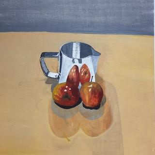 Steel jug & apples, 0.6x0.4m, original £550