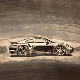 Porsche 911 Turbo 2020, A3 size, original £550, print £75