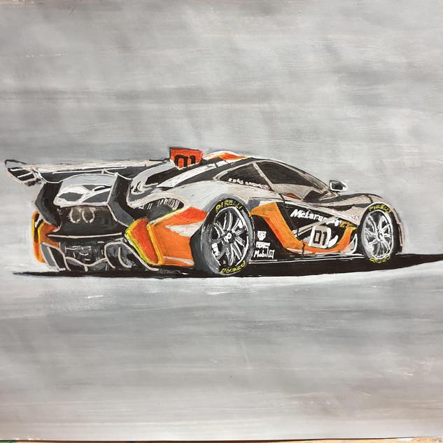 McLaren P1 GTR 2015, A3 size, original £550, print £75