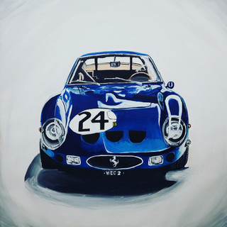 Ferrari 250GTO, 1963, oil on canvas, 85x85x2cm, original £1,000, print £75