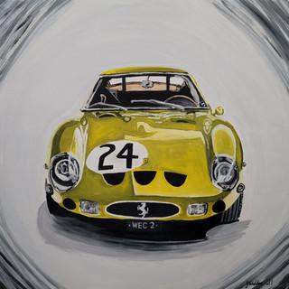 Ferrari 250GTO, 1963, oil on canvas, 85x85x2cm, original £1,000 print A3 size £75