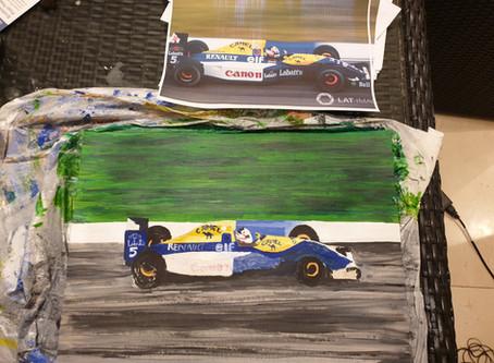 Mansell's car taking shape