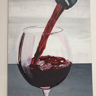 Gentle inebriation, acrylic on canvas, 0.9x0.6m, original £550