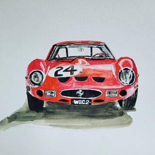 Ferrari 250GTO, 1963, watercolour, A3 size, original £250, print £75