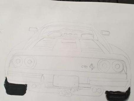 Work in progress 288 GTO rear view