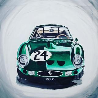 Ferrari 250GTO, 1963, oil on canvas, 85x85x2cm, original, framed to 90x90x3cm, £1,500, print A3 size £75