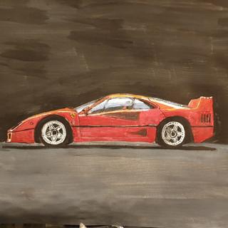 Ferrari F40 1987, A3 size, original £350, print £75