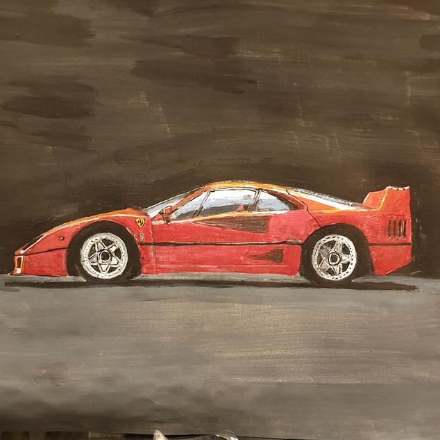 Ferrari F40 1987, A3 size, original £550, print £75