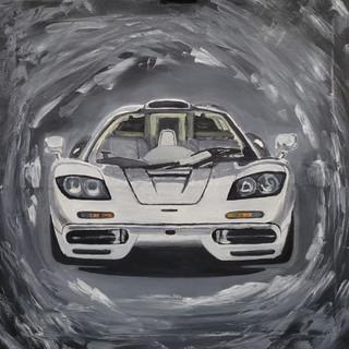 McLaren F1, 1992, oil on cavas, 95x95x2cm, original £1,000, print £75