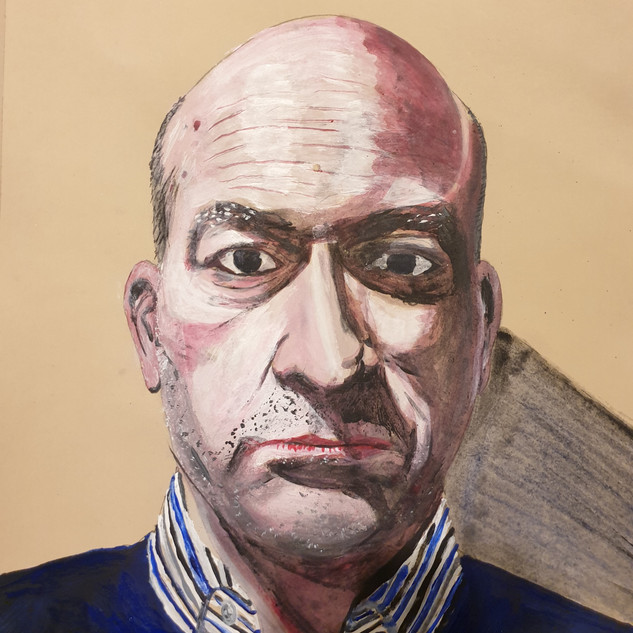 Self portrait, acrylic on paper, A3 size, original £550