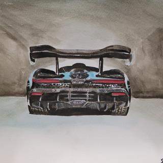 McLaren Senna 2020, A3 watercolour, original £250, print £75