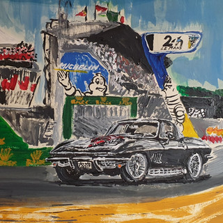 1967 Corvette 427, original sold, print £75