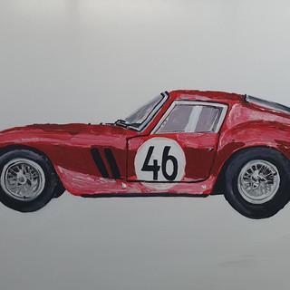Objects of Desire 2; Ferrari 250GTO, oil and acrylic on canvas, 120x80x4cm, original £1,500, print £75