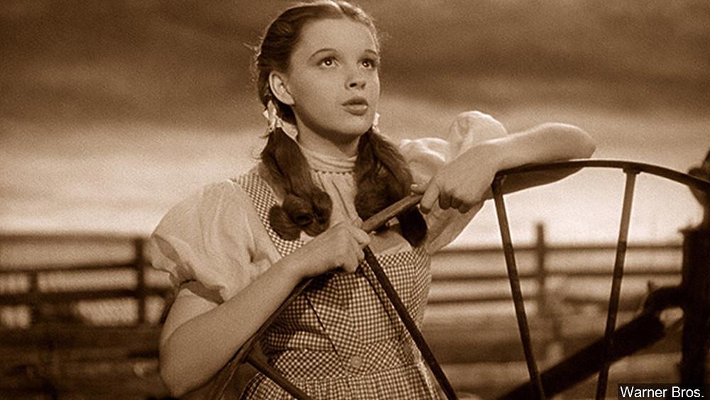 "Judy Garland singing ""Over the Rainbow"""