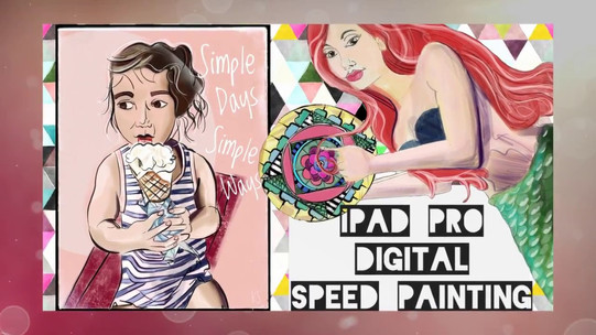 Digital Speed Painting with Ipad Pro and Procreate