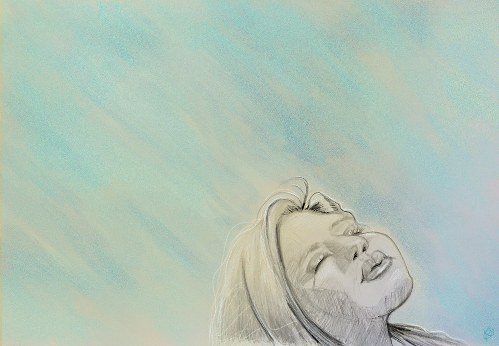 Feeling The Air (Pencil and Digital)