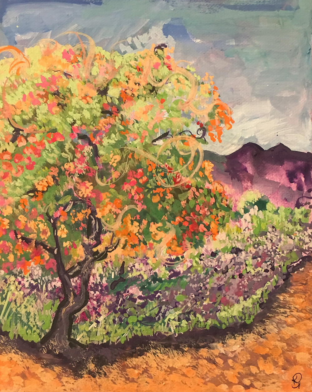 Plein Air Painting Lavender Field 1st Painting
