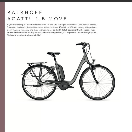 Kalkhoff Aggatu 1.B Move (2021)