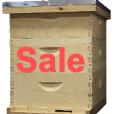 Woodenware Hive Kit -10-Frame Unassembled Triple Medium Hive
