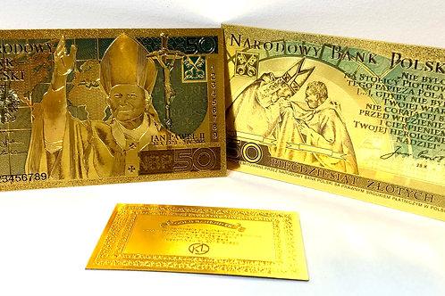 Banknot kolekcjonerski 50 zł