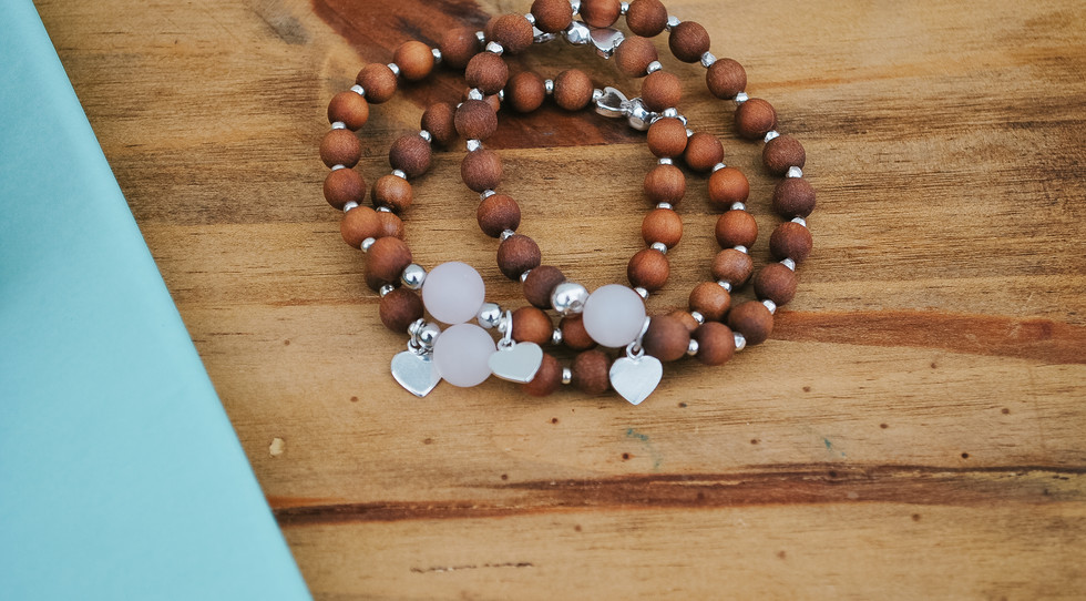 Matching mala bracelets