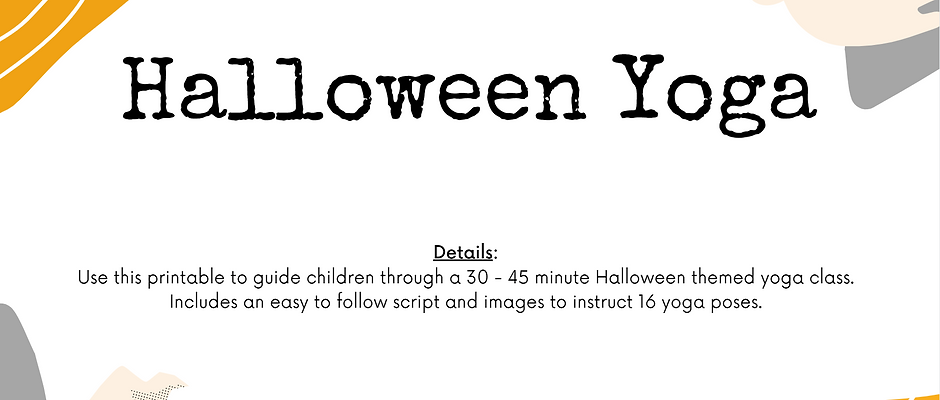 Halloween Yoga Printable