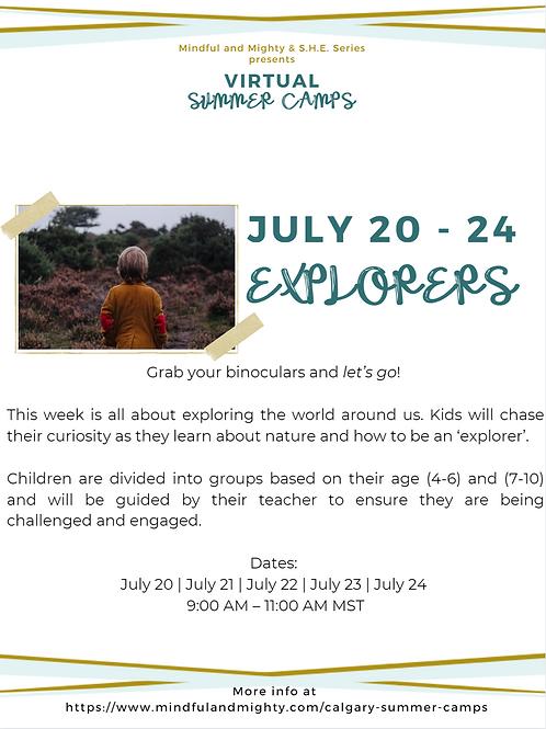 Virtual Summer Camp: JULY 20 - 24