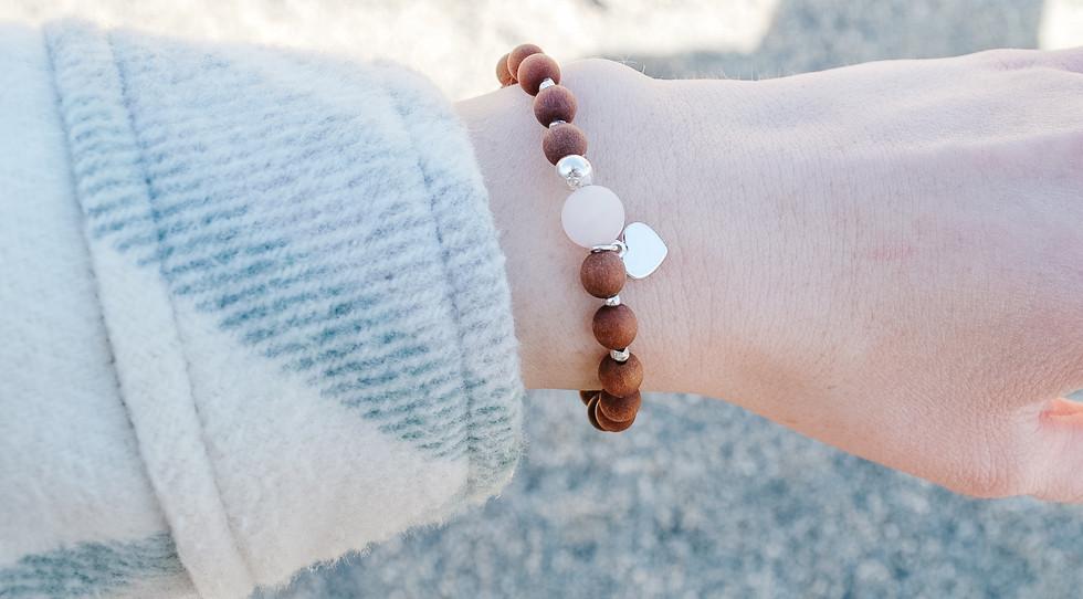 Sandalwood mala bracelet