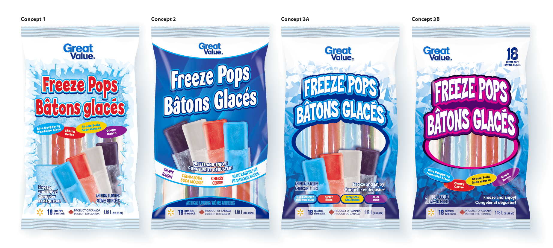 Freeze Pops - 3D concepts